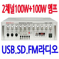 ES-100HU  100W+100W USB 내장 앰프