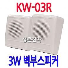 KW-03R  3W 소방 벽부스피커